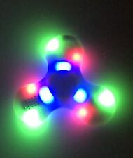 Blue Bluetooth Speaker Led Fidget Finger Spinner Spinning Toy Relieve Stress