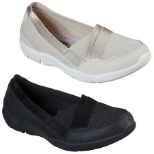 Skechers Womens Shoes Be-Lux - Daylights Slip On Ballerina Comfort Loafer Flats