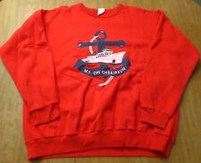 MS CHI-CHEEMAUN red sweatshirt 2XL crewneck 1980s Ontario ferry boat Canada XXL