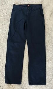 Quiksilver dark blue chino trousers mens size 28