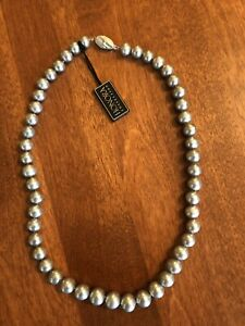 Honora Platinum Pearl Necklace With 14k White Gold Clasp