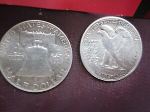 United States Silver Half Dollars 1941 &1953