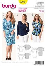 BURDA SEWING PATTERN LADIES PLUS SIZE DRESS & SHIRT TOP SIZE 18 - 28 6785
