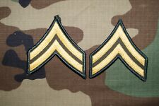 US Army MALE Corporal CPL E-4 Dress Green Military Patch Rank Sew on Class A