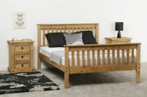 Distressed Pine Wooden High End Bed Frame - 3 Sizes Available *BRAND NEW*