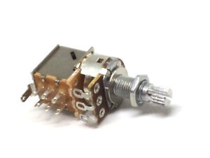 Metric 18mm split shaft Push Pull Potentiometer A250,B250,A500,B500 For Coil Tap