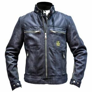 Helstons Genesis Motorcycle Motorbike Textile Jacket Blue