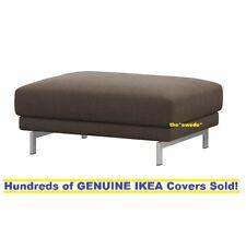 IKEA NOCKEBY Footstool (Ottoman) Cover Slipcover TENO BROWN New SEALED!