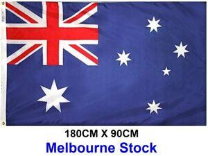 180x90cm Outdoor OZ Aussie Australia Australian Flag National Heavy Duty Feet