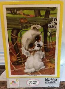 "Vintage Milton Bradley Big Eyed Puppy Puzzle ""Ragamuffin"" By GIG 500pcs 4895-7"
