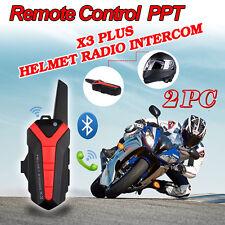 2xBluetooth Headset Intercom Helmet For Motorcycles Rider to Rider 1.5-3KM Range