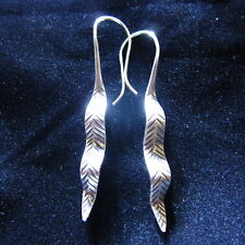Fine Earrings Hill tribe Solid Silver Karen tribal Twist Leaves Amazoness aucsun