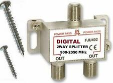 QUALITY 2050 Mhz 2-WAY DIGITAL SPLITTER HD TV/DTV READY ANTENNA HDTV 2WAY SPLIT