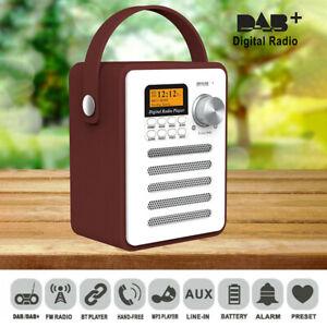 Portable DAB+ Radio Digital FM Rechargeable Bluetooth Radio Audio MP3 Player UK