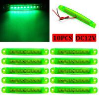 10x 12V 9 LED Green Side Marker Indicator Light For Truck Trailer Lorry Bus Lamp