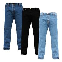 MENS WEARING 100% COTTON EURO DENIM BASIC REGULAR STRAIGHT CLASSIC FIT JEANS