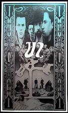 U2 Ultimate Fan Poster Steve Harradine Black Blue Silver Nice Lithograph