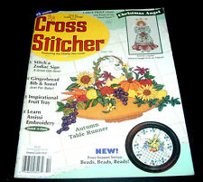 THE CROSS STITCHER MAGAZINE~OCT. 1995~STITCH~CHRISTMAS ANGEL~HALLOWEEN BELLPULL+