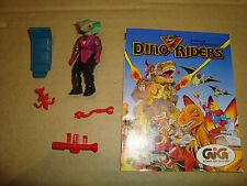 DINO-RIDERS RULON SIDEWINDER + ACCESSORIES AND MINI COMIC BOOK GIG/TYCO 1987
