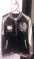 Hello Kitty Authentic Japanese Sanrio Tenstrike Silk Baseball Jacket Sz XXL NWT