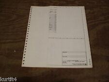 1977 Ford F600 F700 F800 truck wiring diagram schematic SHEET service manual