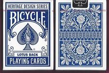2 DECKS Bicycle Lotus Back playing cards Heritage Series