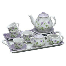 Andrea by Sadek Child's Violet Polka Dot Tea Set!  Adorable for any young lady!