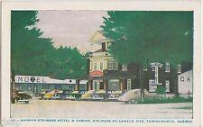 1959 Cte TEMISCOUATA Quebec Canada Postcard MANOIR STE-Rose Hotel Cabins