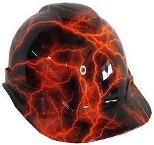 Hard Hat Hi-Vis Orange Lightning w/ Free BRB Customs T-Shirt