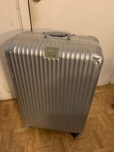 "RIMOWA | 29"" Polycarbonate Travel Suitcase | 29""Hx20""Wx11""D | GERMANY | 3-Clasps"
