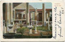 1900 Pompei Casa dei Vettii Giardino Colonne Interno U.S.A. Postale FP COL VG