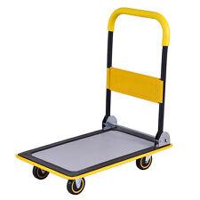 330lbs Folding Platform Cart Dolly Push Hand Truck Moving Warehouse Foldable New