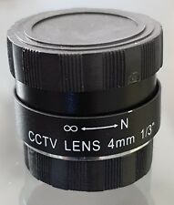 CCTV Camera 4.0mm CS C Mount Lens Fixed Iris F1.2 AU Stock NOS Type #1