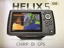 New in Box Humminbird Helix 5 G2 DI GPS Fish Finder Combo 410220-1