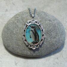 Penguin Pendant Necklace Jewelry Antique Silver