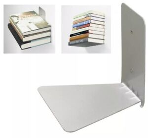 Invisible metal floating Shelf for Large Books UMBRA design - Set of 2