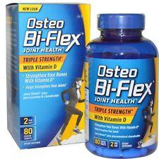 Osteo Bi-Flex, salud de las articulaciones, Triple Fuerza + Vitamina D, 80 comprimidos recubiertos