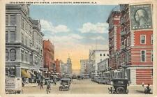 Birmingham, Alabama 19th Street Scene From 4th Avenue 1922 Vintage Postcard