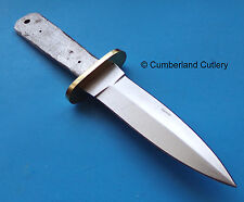 Knife Making Double Edge Dagger Blade Blank with  Brass Guard