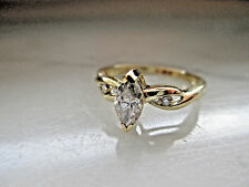Antique Style Solid 10K Yellow Gold 0.57Ct Natural Diamond Engagement Ring,IGL