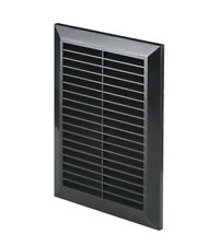 Black Air Vent Grille 165mm x 235mm Fly Screen Ducting Ventilation Cover T26CZ