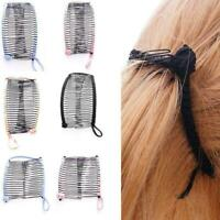 Womens Vintage Banana Hair Clip Christmas Hairpin Accessorie Stretchable G6W9
