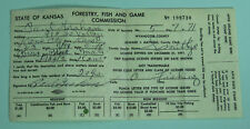 1971 Kansas Resident Fish & Game Commission Fishing License.Free Shipping!