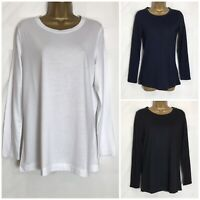 White Stuff Cotton Modal Jersey Long Sleeved Top 3 Colours 8 - 18 (ws-72h)