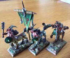 Warhammer CHAOS BEASTMEN centigors aos Lote de 3 miniaturas de metal fuera de imprenta Raro