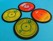 Set of 4 DRINKS COASTERS Music Themed Economy Range FACTORY SECONDS (Set No 36)