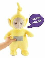 Teletubbies 26cm Talking Laa Laa Soft Plush Toy Brand New