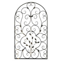 Retro Wrought Iron Wall Frame Rustic Art Moroccan Indoor Outdoor Home Gate Decor