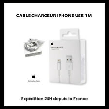 CHARGEUR CABLE APPLE USB 1M POUR IPHONE  5 / 6 / 7 8 / X / XR / XS / MAX / 11
