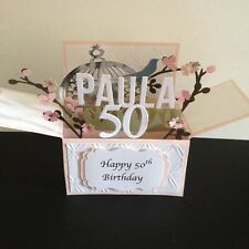 Handmade  3D  Mother's Day/Birthday Card in a box   - Spring blossoms